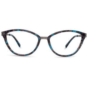 NIB Modo Grey Aqua Marble Cat-Eye Glasses